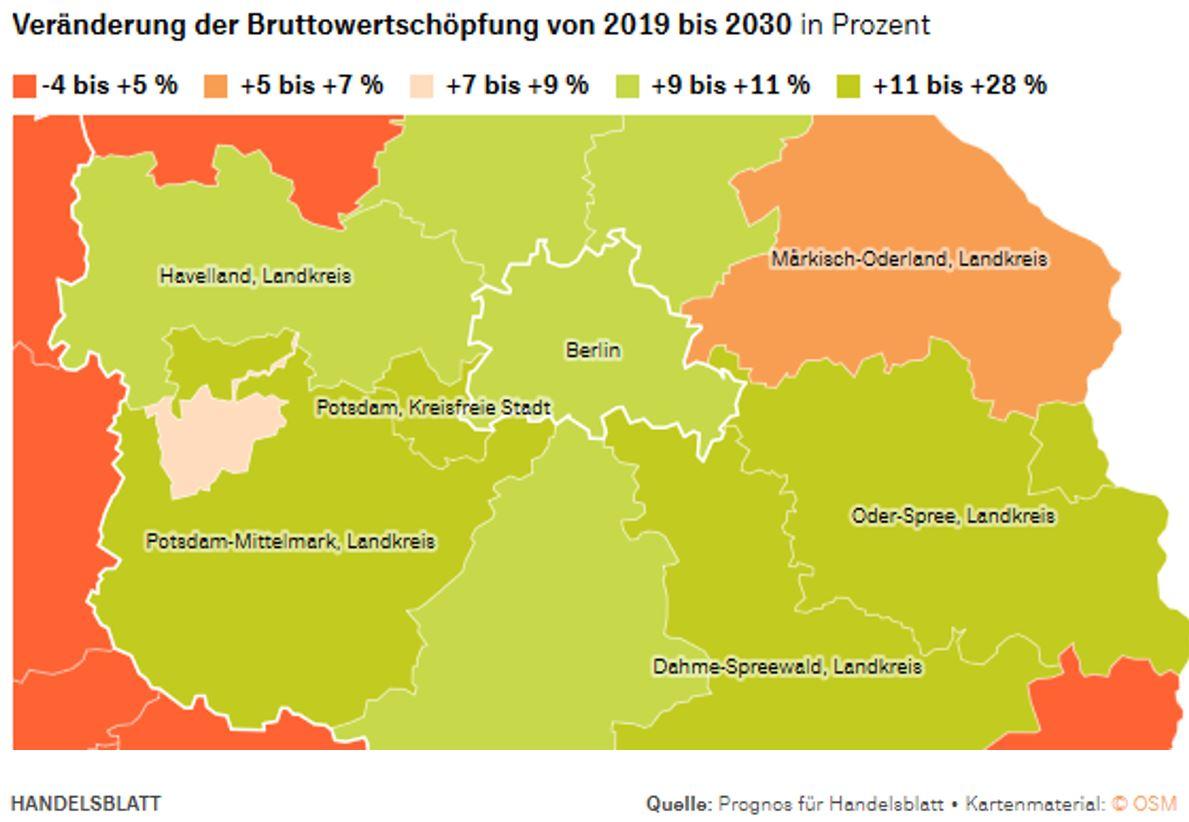 Berliner Speckgürtel: Wachstumsprognose für die Landkreise Dahme-Spreewald und Oder-Spree